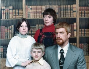 Our First Family Photo, 1977. You gotta love polyester.